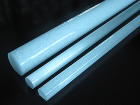 Milky quartz rod