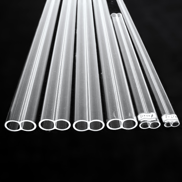 Quartz glass twin tube