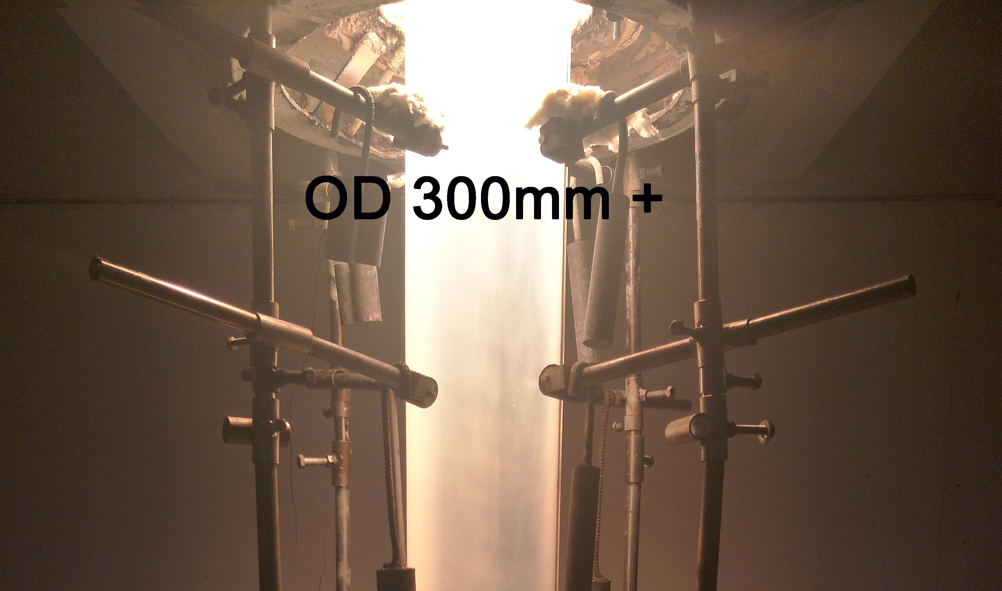 Clear Large OD quartz tube - 1 to 300mm, 300+mm one step production