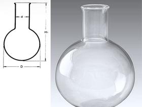 Quartz round-bottom flask